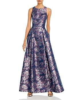 Aidan Mattox - Printed A Line Gown