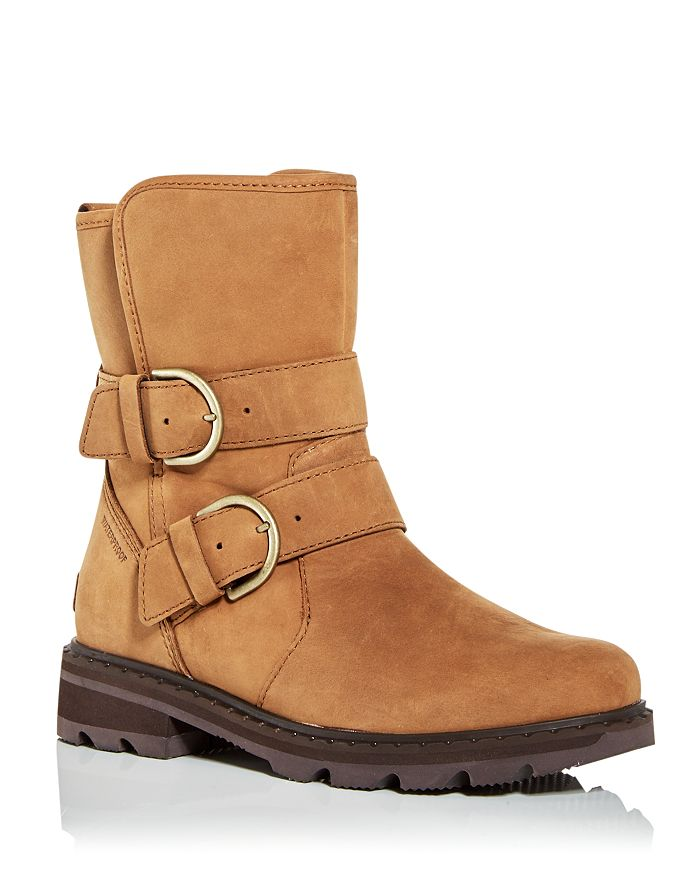 Sorel - Women's Lennox Cozy Shearling Waterproof Moto Boots