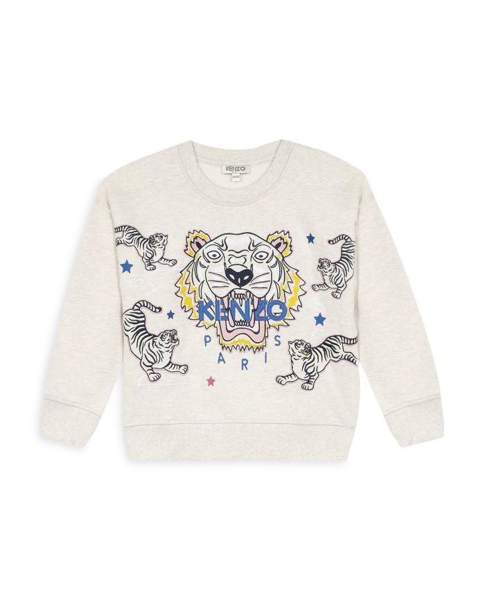 Kenzo Girls' Tiger Logo Sweatshirt - Little Kid, Big Kid  | Bloomingdale's
