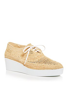 Clergerie - Women's Lisa Woven Wedge Platform Oxfords