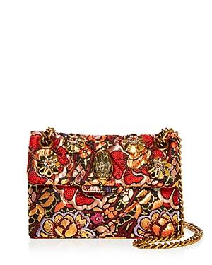 Kurt Geiger London Mini Kensington Brocade Crossbody Bag-Handbags