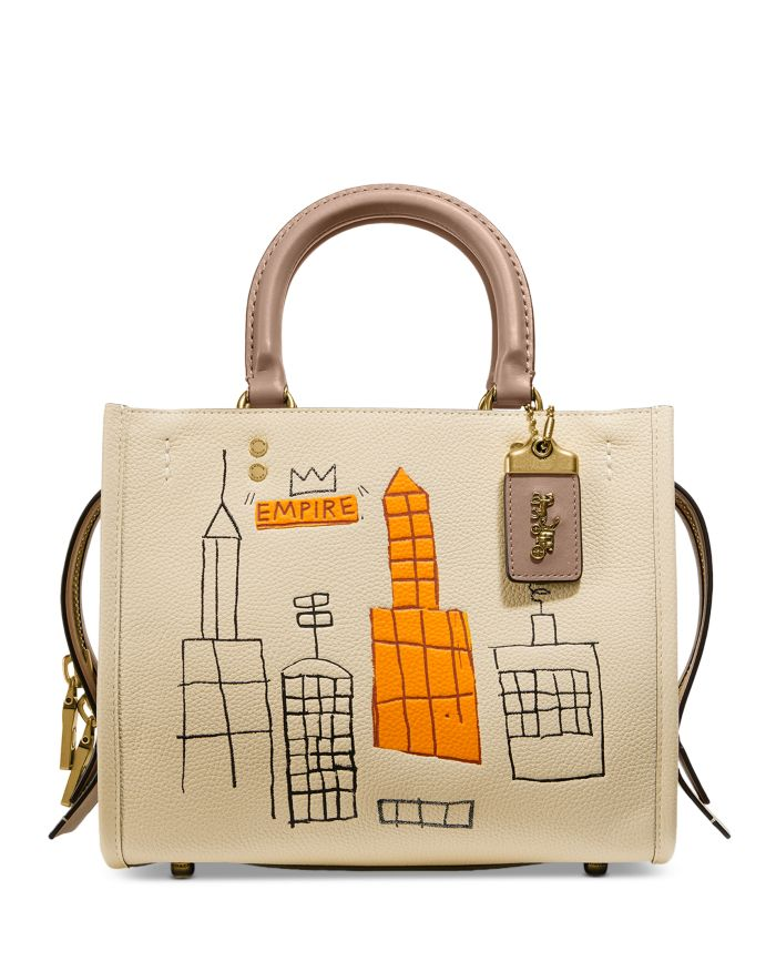 COACH X Jean-Michel Basquiat Rogue 25 Small Leather Bag  | Bloomingdale's