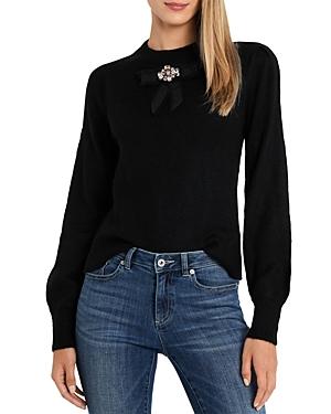 CeCe Balloon Sleeve Bow Sweater-Women