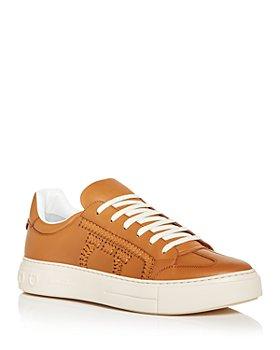 Salvatore Ferragamo - Men's Braided Gancini Low Top Sneakers