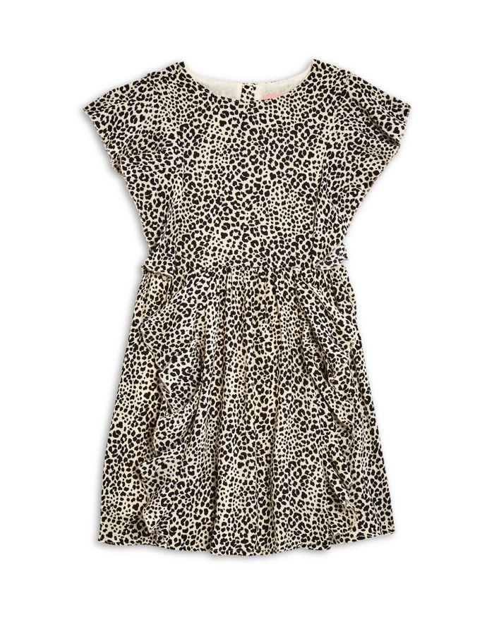BCBG Girls' Leopard Print Ruffled Crepe Dress - Little Kid, Big Kid    Bloomingdale's