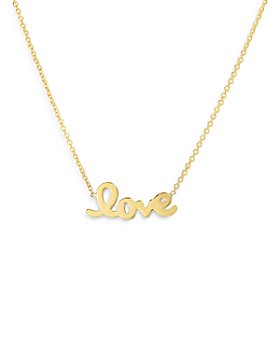 """Roberto Coin - 18K Yellow Gold LOVE Necklace, 18"""""""