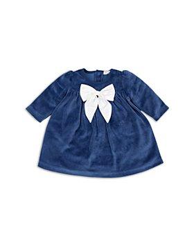 Kissy Kissy - Girls' Bow Front Velour Dress - Baby