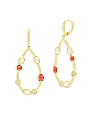 Freida Rothman Beaded Oval Drop Earrings