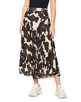 Sanctuary - Pleated Pony Print Midi Skirt