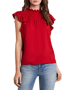 1.state SMOCKED RUFFLE TOP