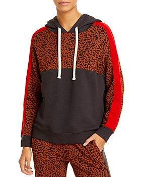 Monrow - Leopard Spot Colorblock Hoodie