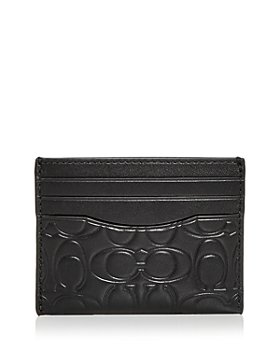 COACH - Signature Embossed Leather Card Case