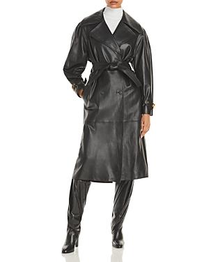 Alberta Ferretti Nappa Leather Trench Coat-Women