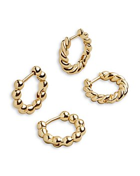 BAUBLEBAR - Swivel Huggie Hoop Earrings, Set of 2