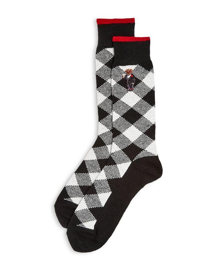 Polo Ralph Lauren - Buffalo Check Cashmere Blend Boot Socks