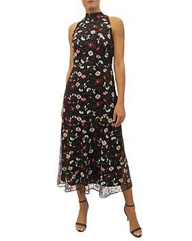 Sam Edelman - High Neck Embroidered Mesh Dress