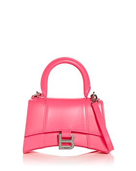 Balenciaga - Hourglass XS Leather Top Handle Bag