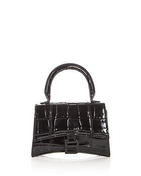 Balenciaga - Hourglass Mini Croc Embossed Leather Top Handle Bag