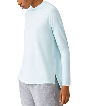 Eileen Fisher - Crew Neck Raglan Long Sleeve Top