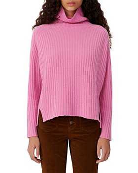 Maje - Madinette Ribbed Knit Turtleneck Cashmere Sweater