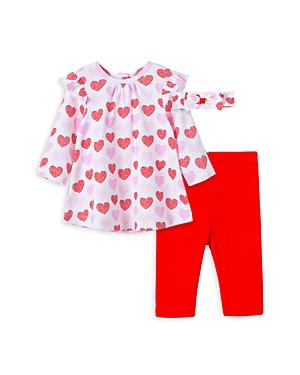 Little Me GIRLS' VALENTINE TUNIC, LEGGINGS & HEADBAND - BABY