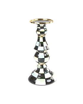 Mackenzie-Childs - Courtly Check® Enamel Pillar Candlestick, Medium