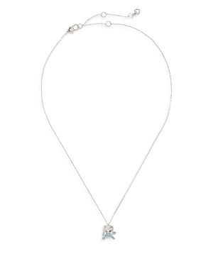 KATE SPADE KATE SPADE NEW YORK PAVE CAT & BOW MINI PENDANT NECKLACE, 17