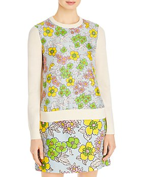 Tory Burch - Silk & Wool Printed Top
