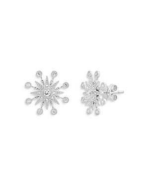18K White Gold Galaxia Diamond Star Stud Earrings