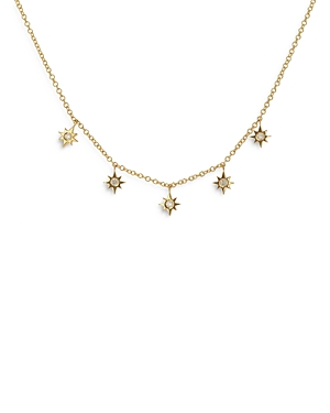 Moon & Meadow 14K Yellow Gold Diamond Star Charm Necklace, 18 - 100% Exclusive