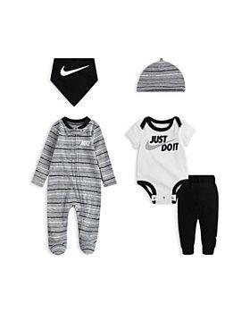 Nike - 5-Pc. Just Do It Cotton Footie, Bodysuit, Pants, Hat & Bib Set - Baby