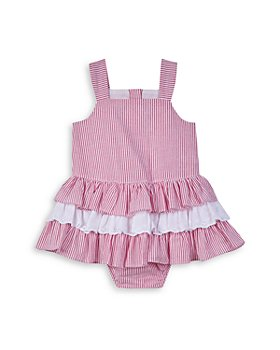 Pippa & Julie - Girls' Striped Seersucker Ruffled Cotton Dress - Baby