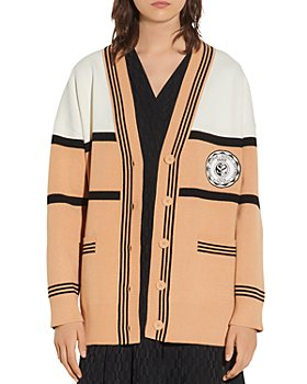 Sandro - Amel Color Blocked Oversized Cardigan