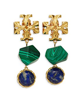 Tory Burch - Roxanne Semi-Precious Stone Clip-On Drop Earrings