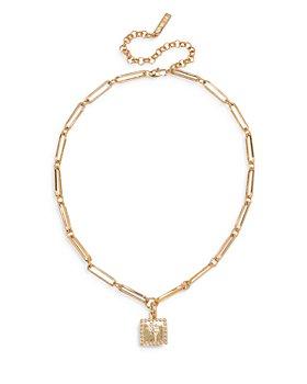 "Luv Aj - Roma Pendant Collar Necklace, 15.5"""