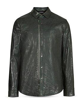 John Varvatos Collection - Slim Fit Leather Shirt Jacket