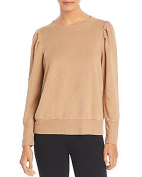Monrow - Tucked Sleeve Puff Shoulder Sweatshirt