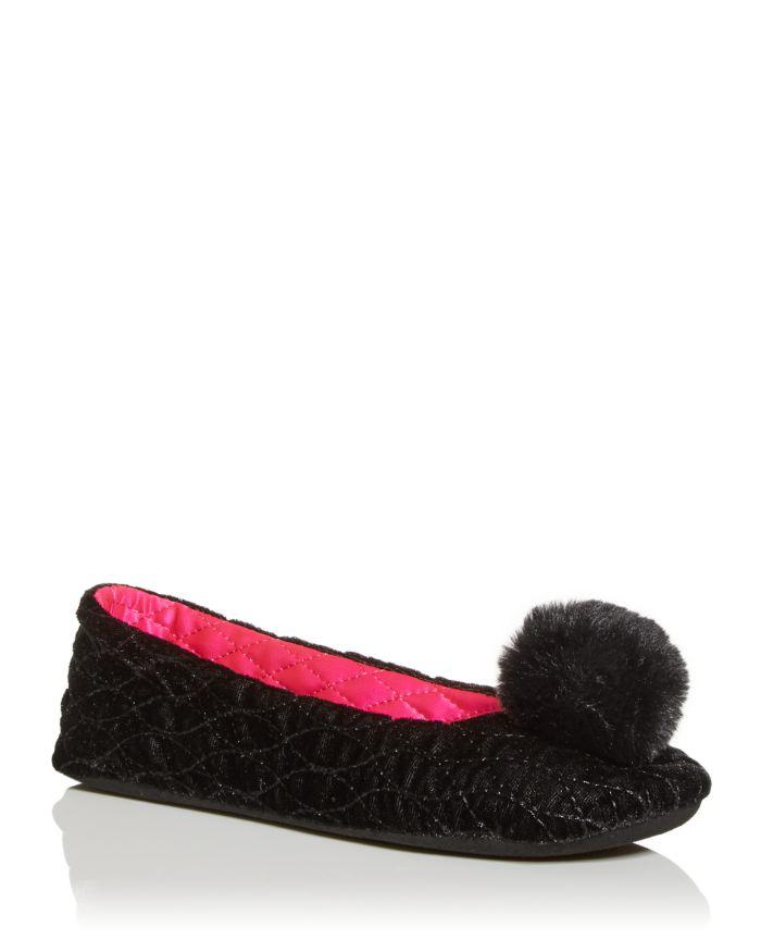 Kate spade new york Women's Fluffed Slippers    Bloomingdale's