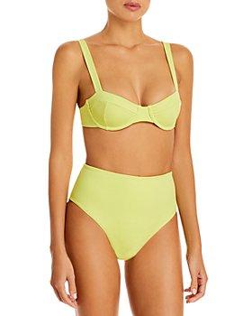 Jonathan Simkhai - Lia Underwire Bikini Top & Cora Solid High Waist Bikini Bottom
