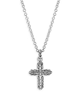 """JOHN HARDY - Sterling Silver Classic Chain Cross Pendant Necklace, 16-18"""""""