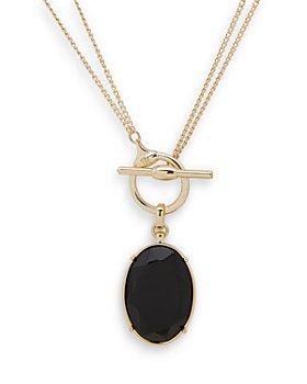 "Ralph Lauren - Convertible Oval Pendant Necklace, 16"", 36"""