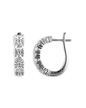 Bloomingdale's - Classic Diamond Hoop Earrings in 14K White Gold, 2.5 0 ct. t.w. - 100% Exclusive