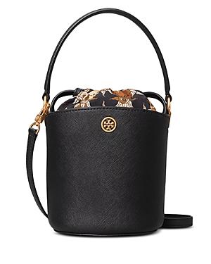 Tory Burch Robinson Mini Leather Bucket Bag