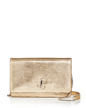Jimmy Choo - Palace Croc Embossed Leather Crossbody