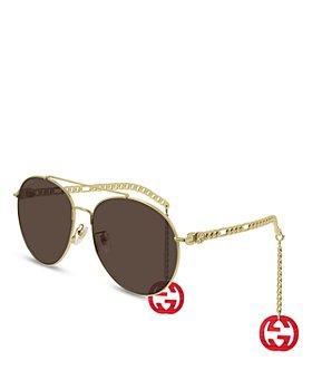 Gucci - Women's Brow Bar Aviator Sunglasses, 61mm