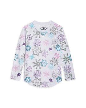 CHASER - Girls' Glitter Snowflake Tee - Little Kid, Big Kid
