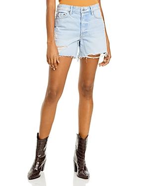 Jourdan Distressed High Rise Cutoff Shorts in Say It First