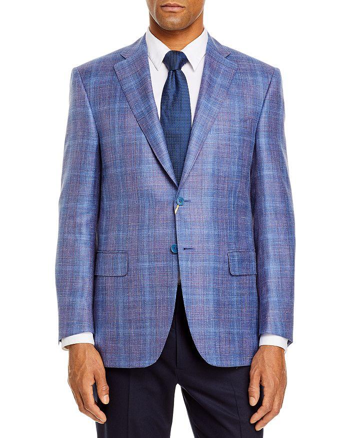 Canali Siena Plaid Classic Fit Sport Coat In Blue