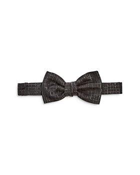 Lanvin - Metallic Check Pre Tied Bow Tie