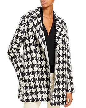 Theory - Houndstooth Belted Jacket